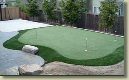 artificial golf lawn